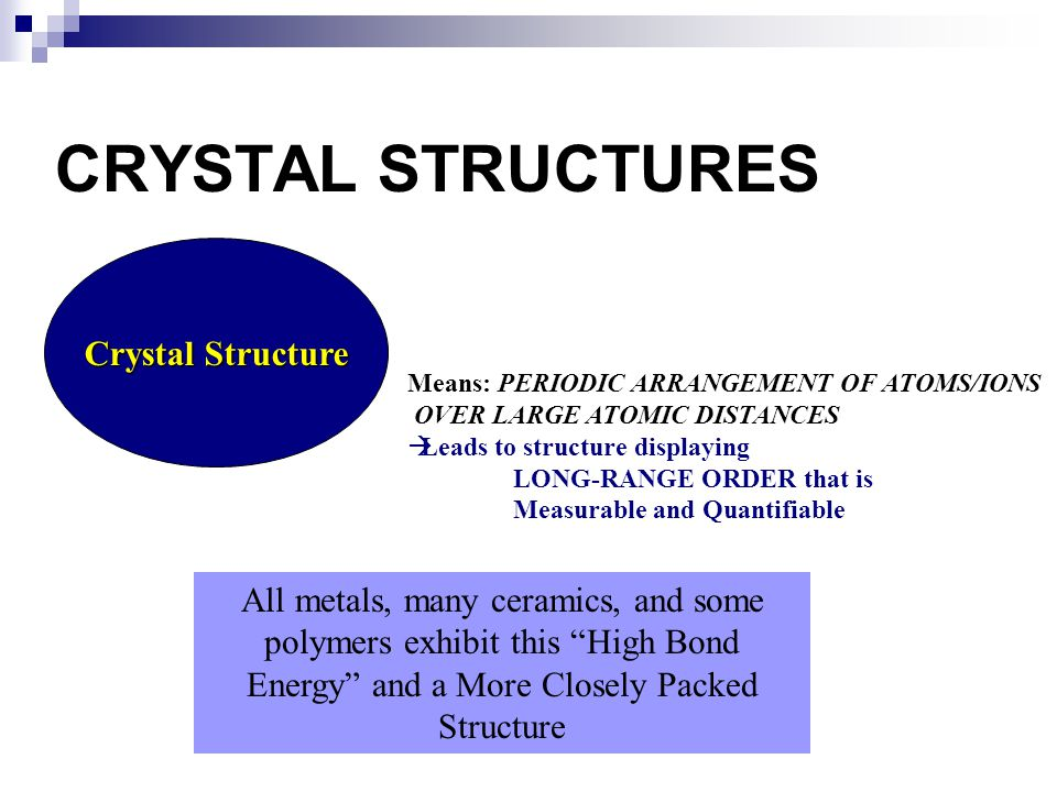 Atoms may assemble into crystalline or amorphous structures.