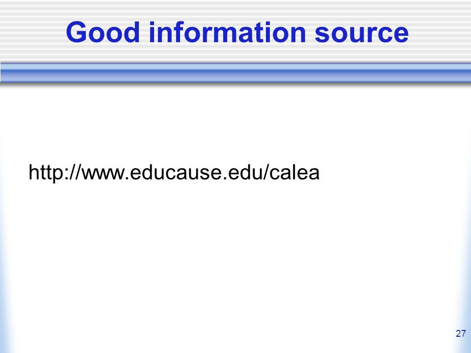 27 Good information source http://www.educause.edu/calea