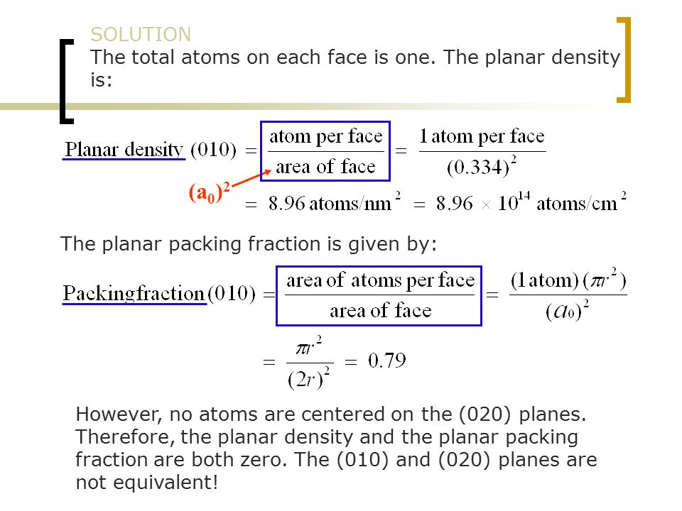 SOLUTION The total atoms on each face is one.