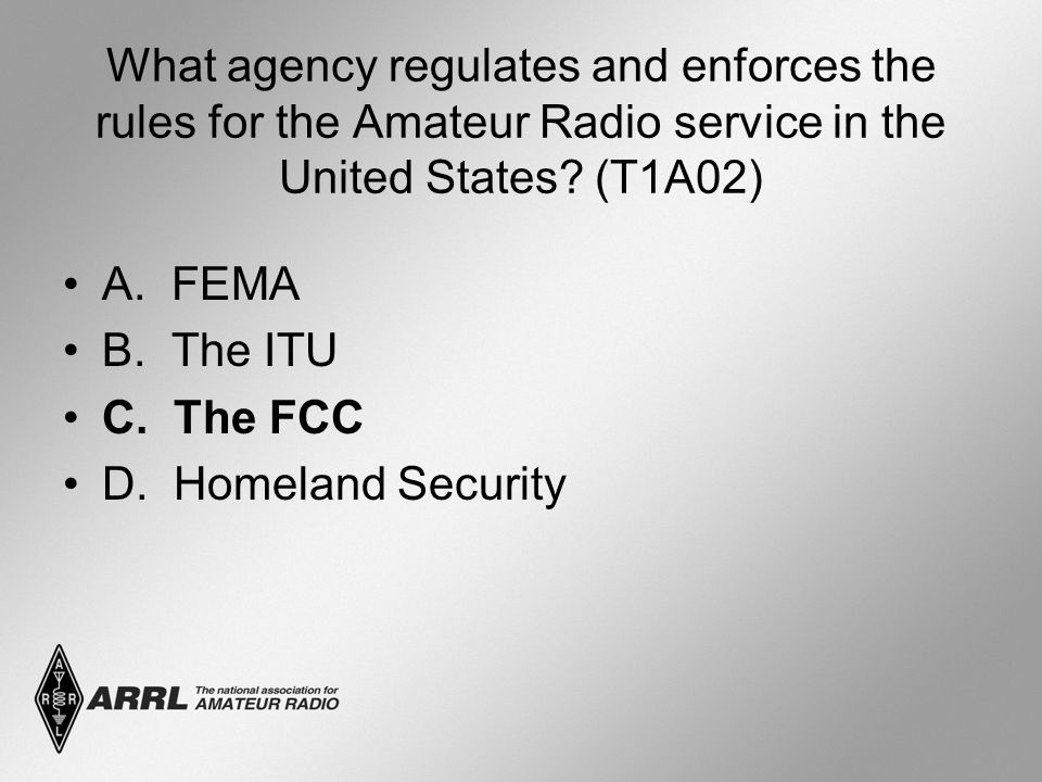 What agency regulates and enforces the rules for the Amateur Radio service in the United States.