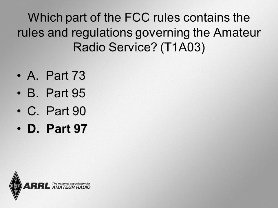 Which part of the FCC rules contains the rules and regulations governing the Amateur Radio Service.
