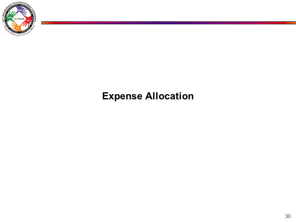 Expense Allocation 30