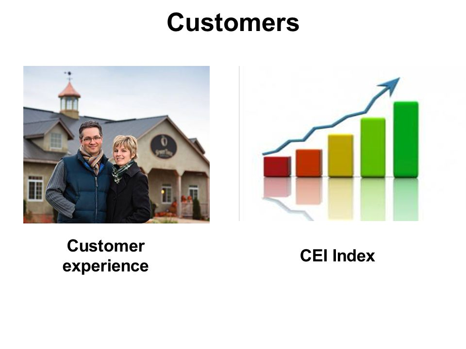 Customers Customer experience CEI Index