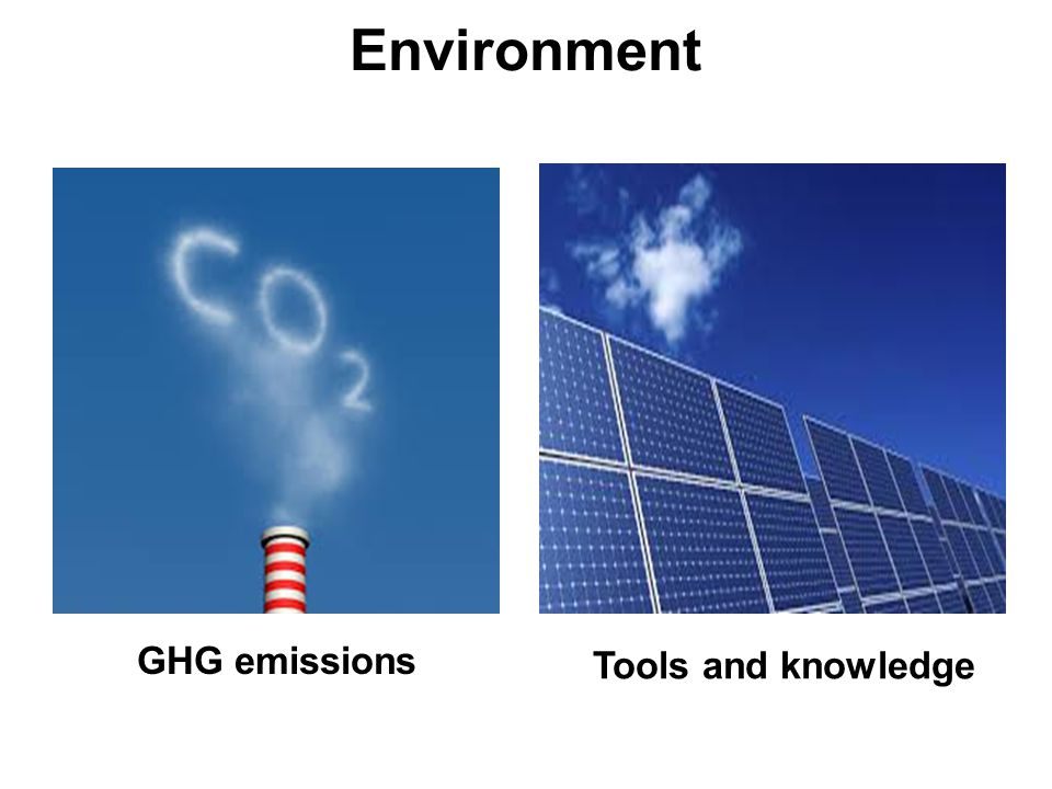 Environment Tools and knowledge GHG emissions