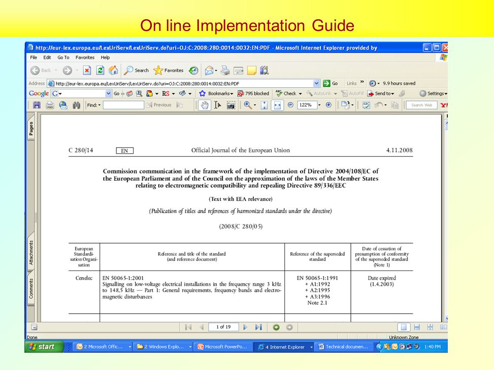 On line Implementation Guide