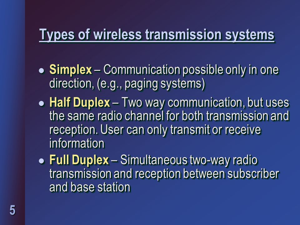6 Types of duplex systems l Frequency Division Duplex (FDD) -Two simultaneous but separate channels l Time Division Duplex (TDD)-Adjacent timeslots on a single radio channel l TDD can multiplicate number of channels in FDD l Frequency Division Duplex (FDD) -Two simultaneous but separate channels l Time Division Duplex (TDD)-Adjacent timeslots on a single radio channel l TDD can multiplicate number of channels in FDD