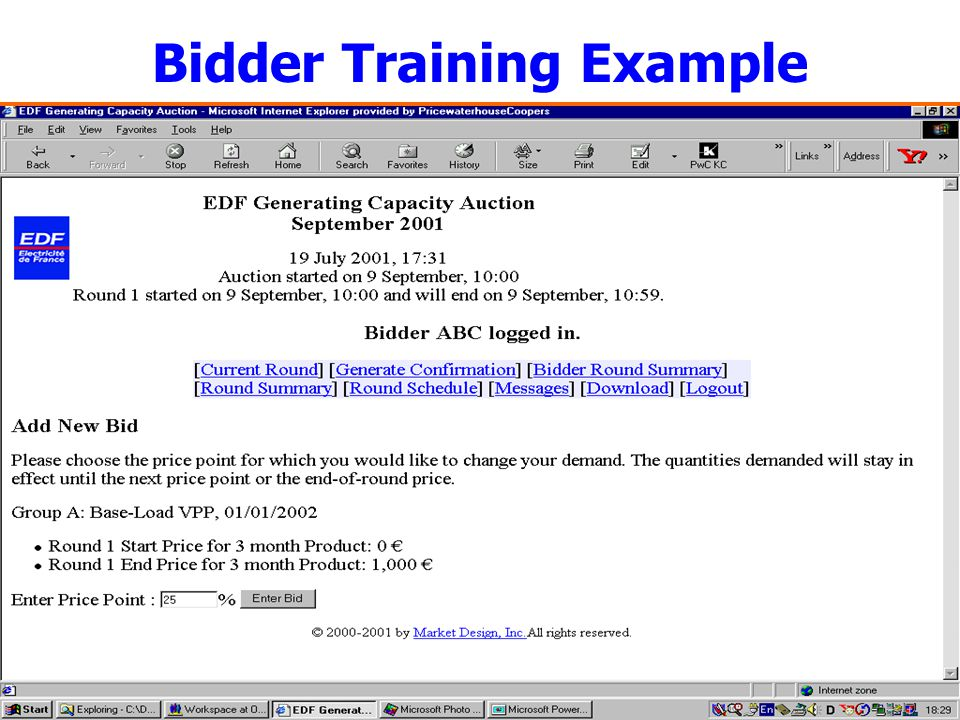7 Bidder Training Example