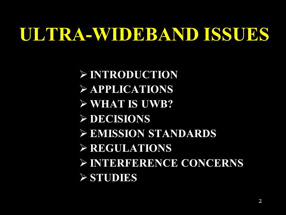 13 -75.3 dBm/MHz Part 15 = -41.3 dBm/MHz U.S. LIMITS