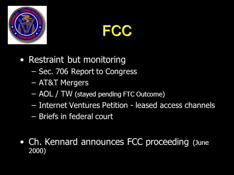Policy Considerations How do you make this work and not repeat the telecom wars.