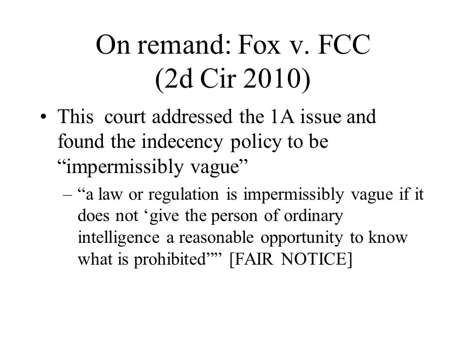 On remand: Fox v.