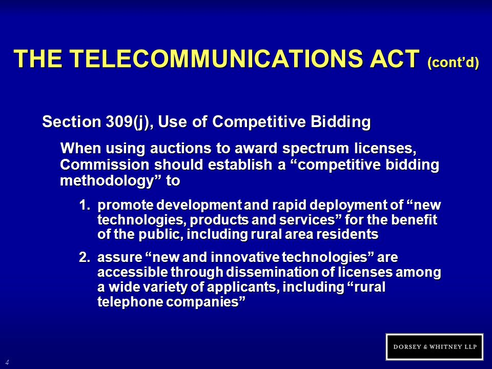 5 PRINCIPLE OF COMPETITIVE NEUTRALITY In its implementation of the universal service statute, the FCC has adopted the principle of competitive neutrality In defining advanced telecommunications services, FCC recognizes satellites as a potential provider Focus of Commission in recent years on broadband for rural communities, however, has been on terrestrial delivery means, rather than satellites