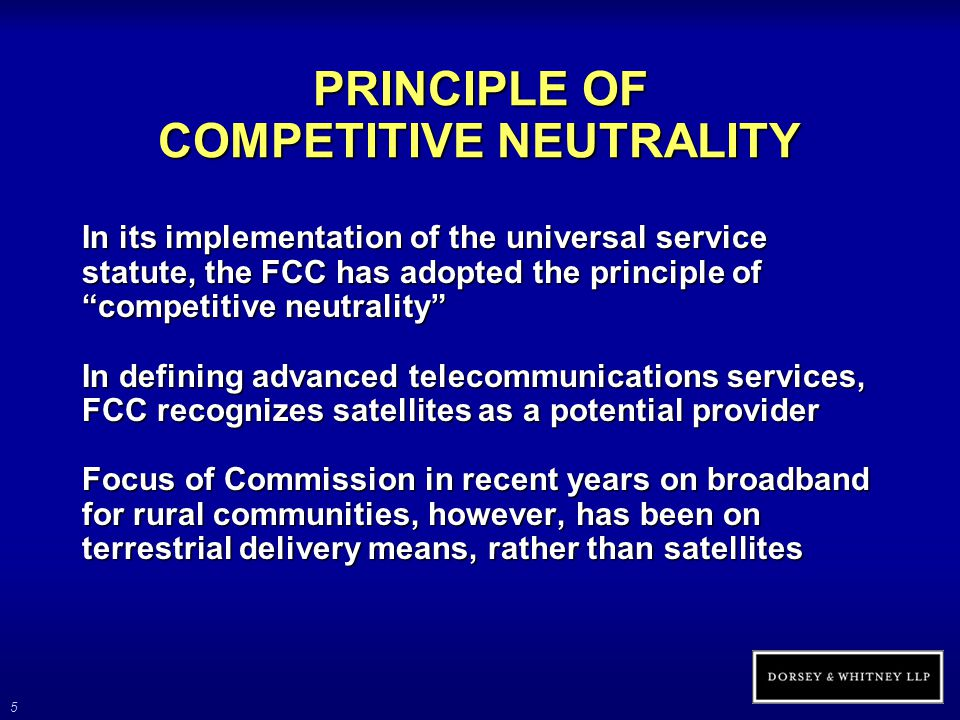 16 OTHER LEGISLATIVE INITIATIVES (cont'd) Broadband Internet Access Act (proposed) Would amend Internal Revenue Code to permit expensing of equipment delivering current or next- generation broadband services to rural areas Satellite providers and lessees are eligible, but launch costs are excluded Would establish five-year window within which to inaugurate service