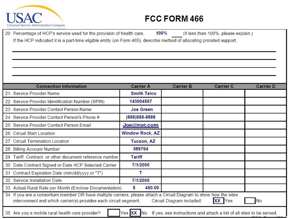 www.usac.org 25 FCC FORM 466