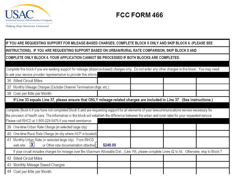 www.usac.org 26 FCC FORM 466