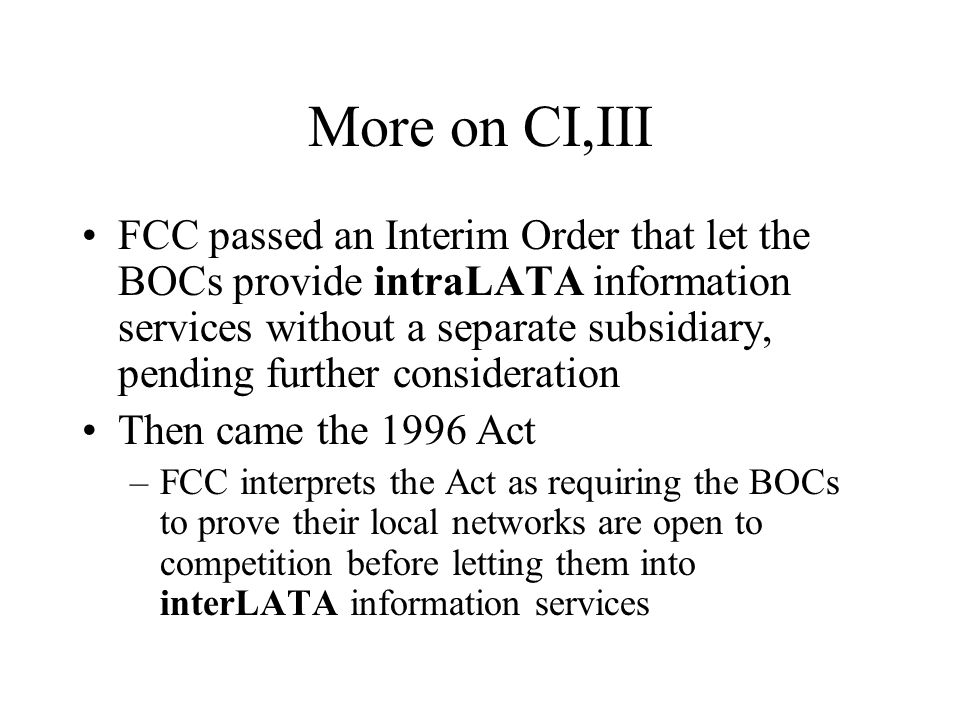 Why is CI,III important.