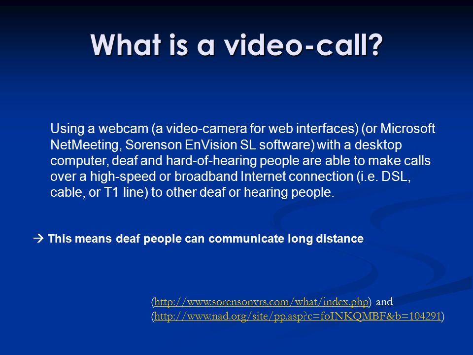 What is a video-call.