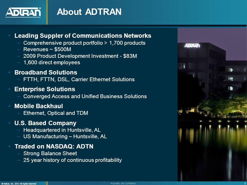 13 ® Adtran, Inc.