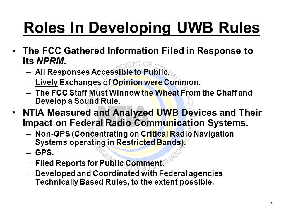 10 June 00 – NTIA Began Non-GPS Measurements and Analysis Task At Washington & Boulder.