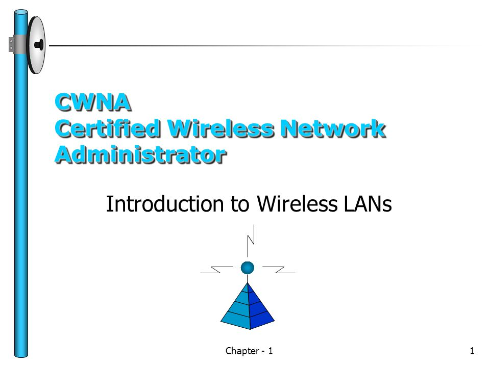 Chapter - 11 CWNA Certified Wireless Network Administrator Introduction to Wireless LANs