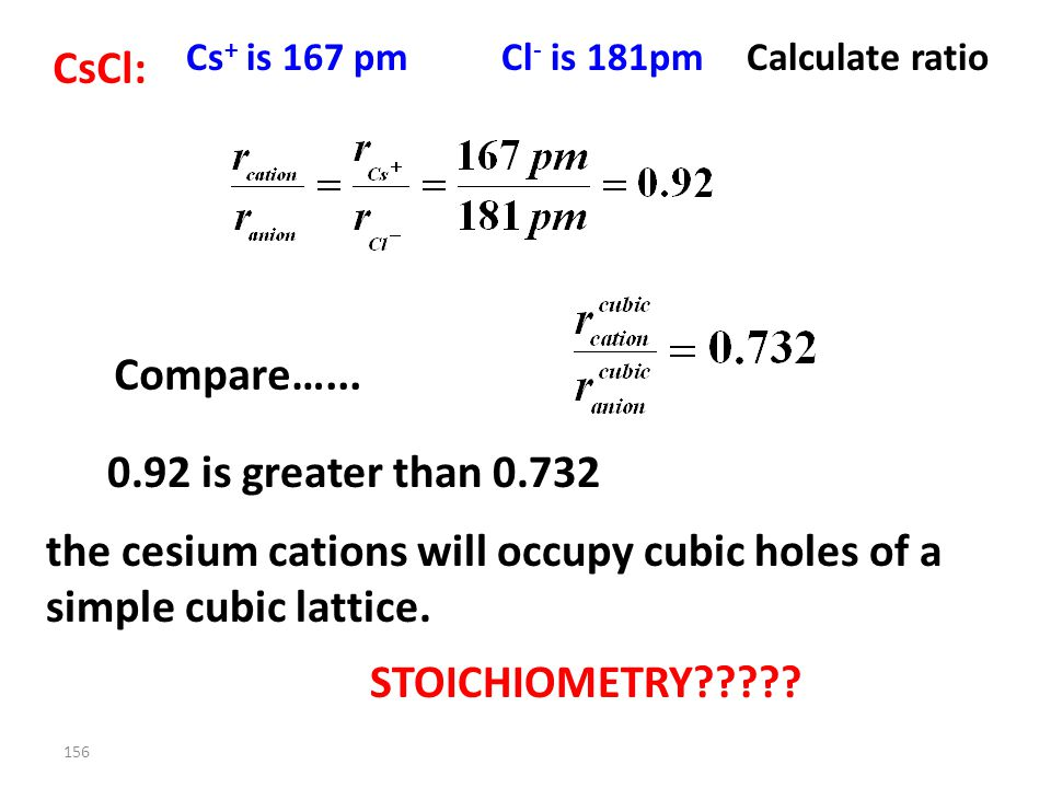 155 = S 2– = Li + all the tetrahedral holes have to be occupied. Now do CsCl…. FCC unit cell with tetrahedral holes filled Li 2 S is a face centered l