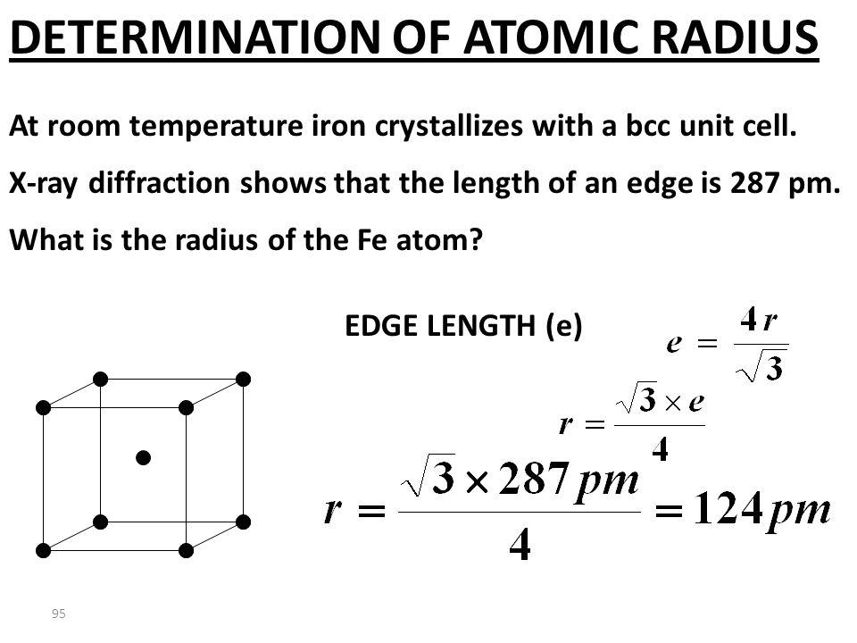 COPPER DENSITY CALCULATION 63.54 g Cu mole Cu 6.022 X 10 23 atoms 4 atoms Cu unit cell 4.75X10 -23 cm 3 unit cell = 8.89 g/cm 3 Laboratory measured de