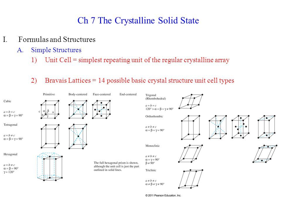 7)Nickel Arsenide Structure: NiAs a)As atoms in close packed layers exactly above each other b)Ni atoms in all the O h holes c)Both Ni and As have CN = 6 d)Alternate: Ni atoms occupy all O h holes of (hcp) As lattice e)Usual for MX compounds where X = Sn, As, Bi, S, Se, Te 8)Rutile Structure: TiO 2 a)Distorted TiO 6 octahedra forming columns by sharing edges b)Ti CN = 6; O CN = 3 c)Adjacent columns connected by sharing corners of octahedra d)Unit cell has Ti at corners and in the body center, 4 O in the faces, and 2 O in the plane of the body center Ti e)MgF 2, ZnF 2 are other examples