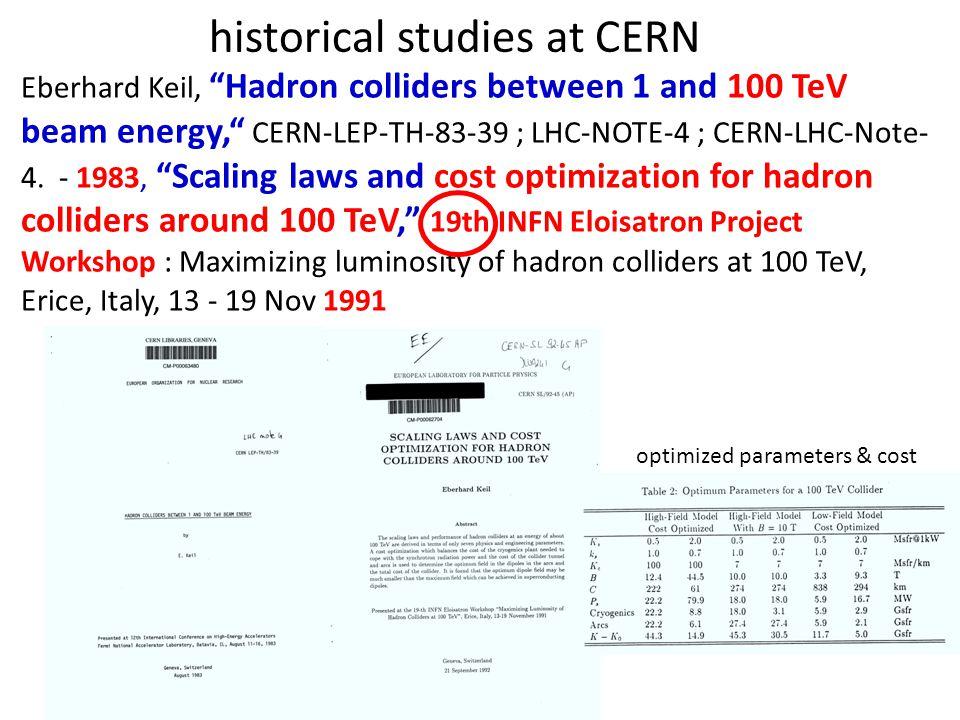 historical studies in Europe Eloisatron = Eurasiatic Long Intersecting Storage Accelerator proposed by Antonino Zichichi c.m.