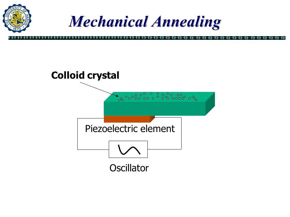 Mechanical Annealing Colloid crystal Piezoelectric element Oscillator