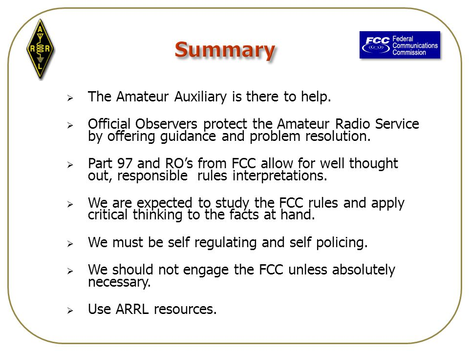  The Amateur Auxiliary is there to help.