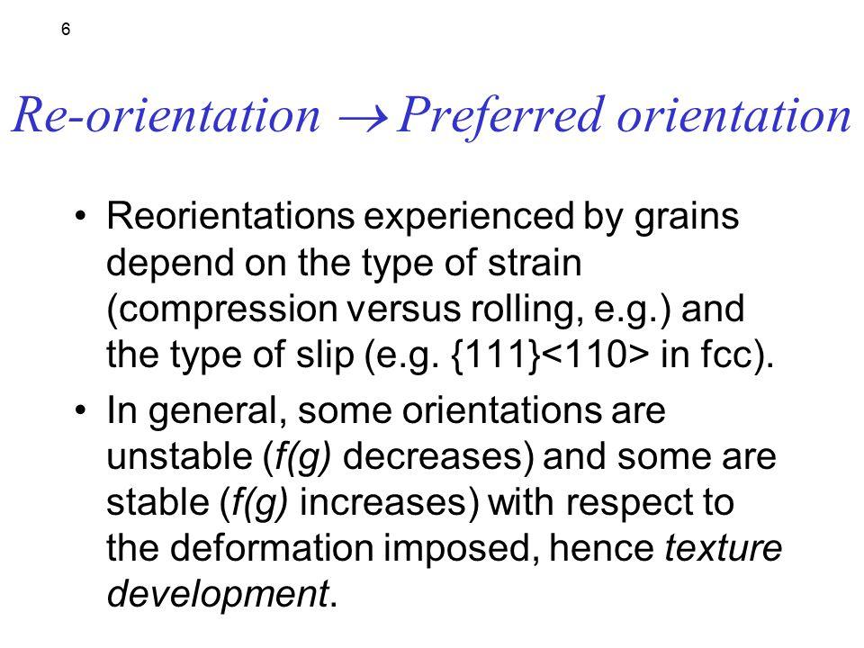 16  In fcc metals, axisymmetric deformation (e.g.