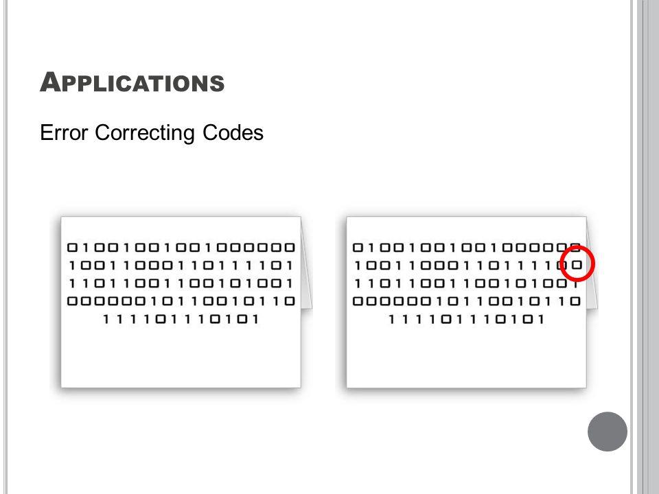 A PPLICATIONS Error Correcting Codes