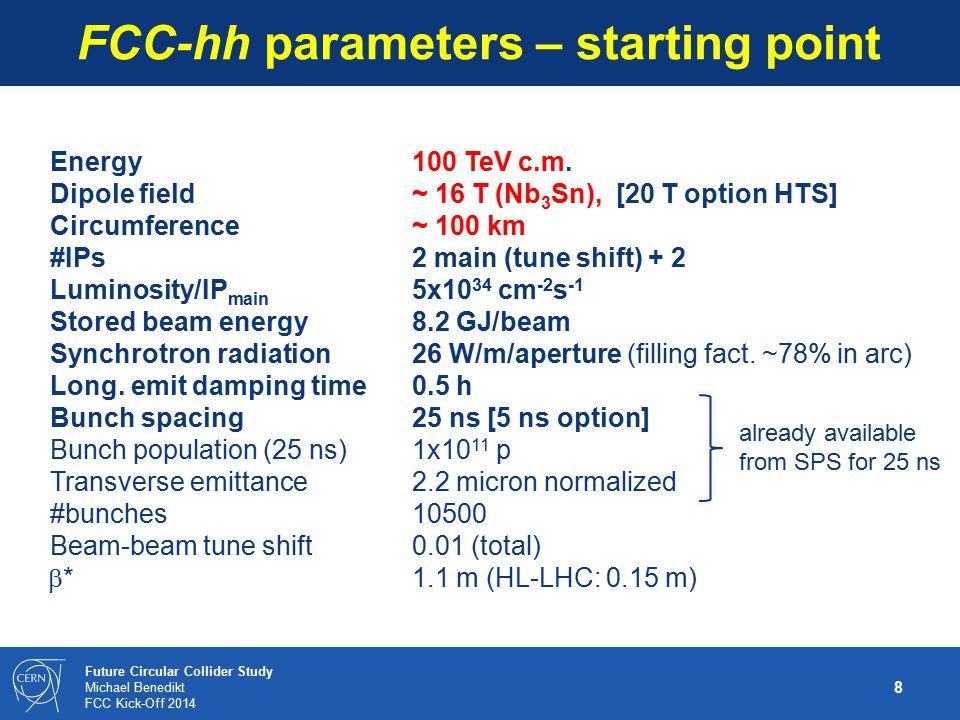 19 Future Circular Collider Study Michael Benedikt FCC Kick-Off 2014 Proposal for FCC WBS top level preliminary