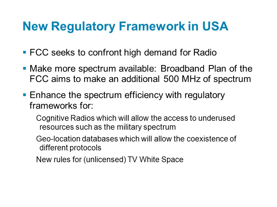 Case Study #2: Unlicensed Wireless Technologies TVWS – 802.11af TVWS – 802.22 WLAN-5 – Wi-Fi Reference from Peter Ecclesine