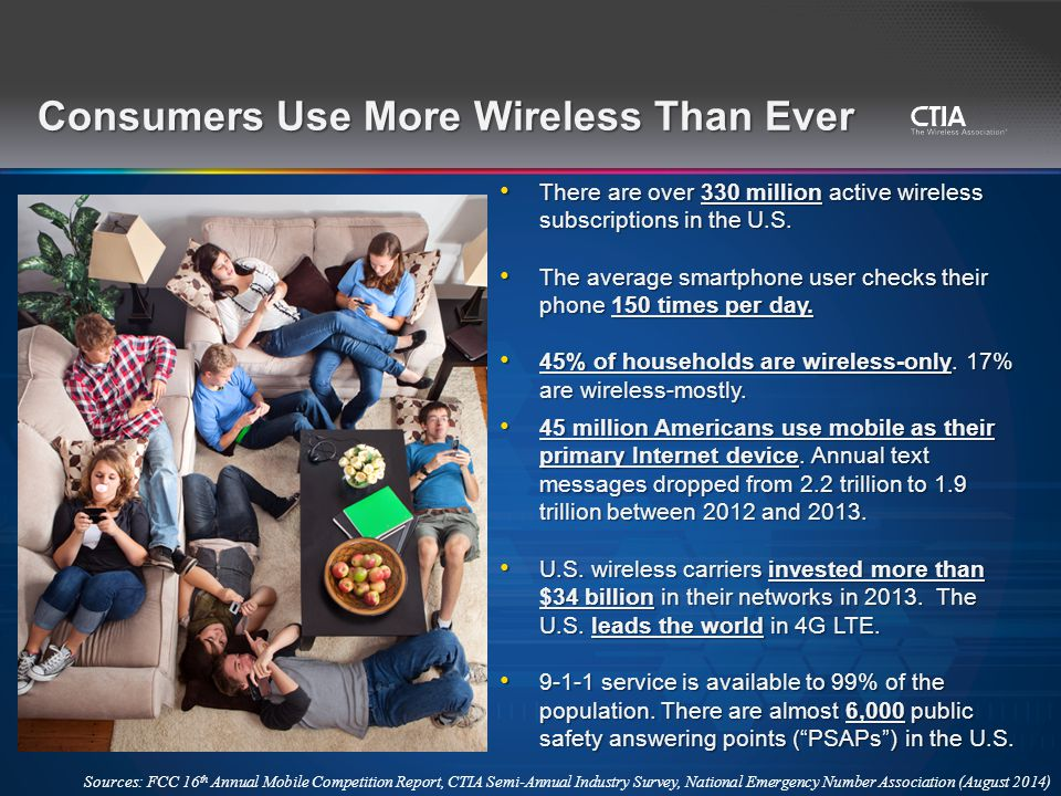 There are over 330 million active wireless subscriptions in the U.S.