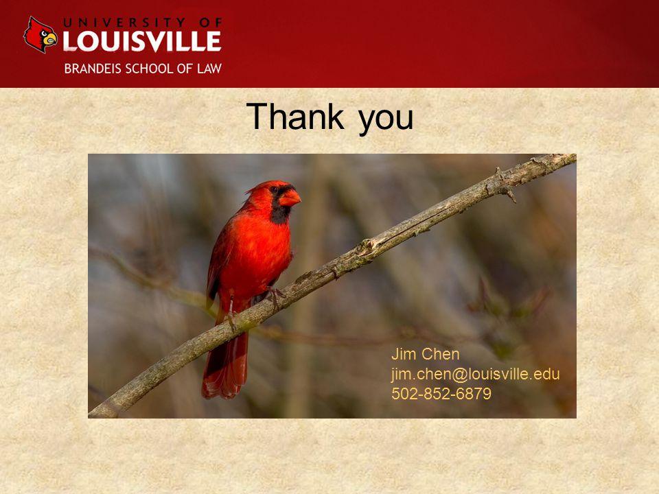 Thank you Jim Chen jim.chen@louisville.edu 502-852-6879