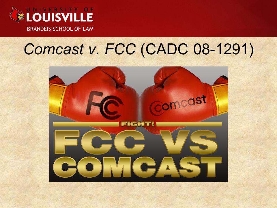 Comcast v. FCC (CADC 08-1291)