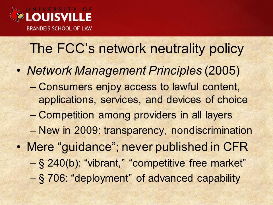 The CADC's Comcast decision Ancillary jurisdiction.