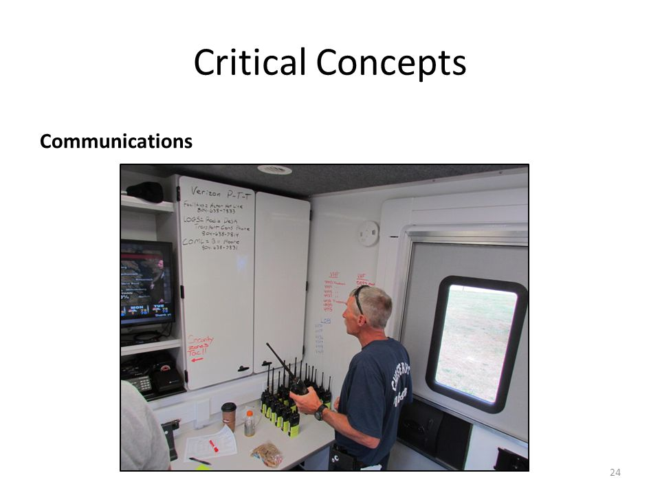 Critical Concepts Briefings – Exercise Brief v. Incident Command Brief v. Ops Brief 25