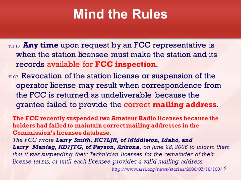 9 T1F13 Any time upon request by an FCC representative is when the station licensee must make the station and its records available for FCC inspection