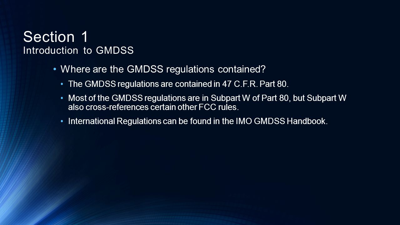What ships are affected by the GMDSS rules.
