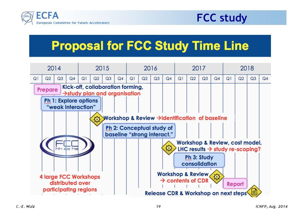 ICNFP, Aug. 2014 C.-E. Wulz19 FCC study