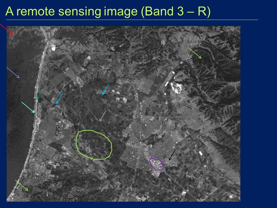 A remote sensing image (Band 3 – R) A remote sensing image (Band 3 – R)