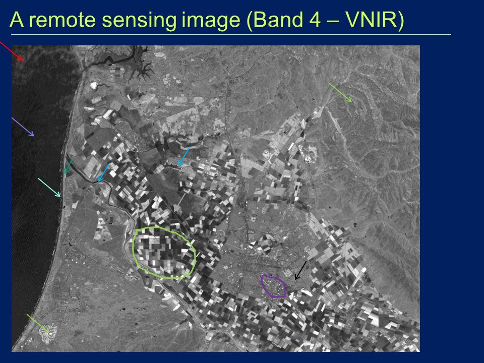 A remote sensing image (Band 4 – VNIR) A remote sensing image (Band 4 – VNIR)