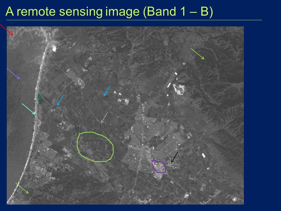A remote sensing image (Band 1 – B) A remote sensing image (Band 1 – B)