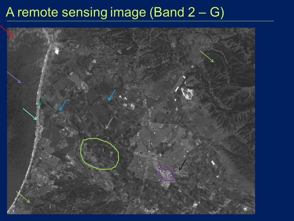 A remote sensing image (Band 2 – G) A remote sensing image (Band 2 – G)