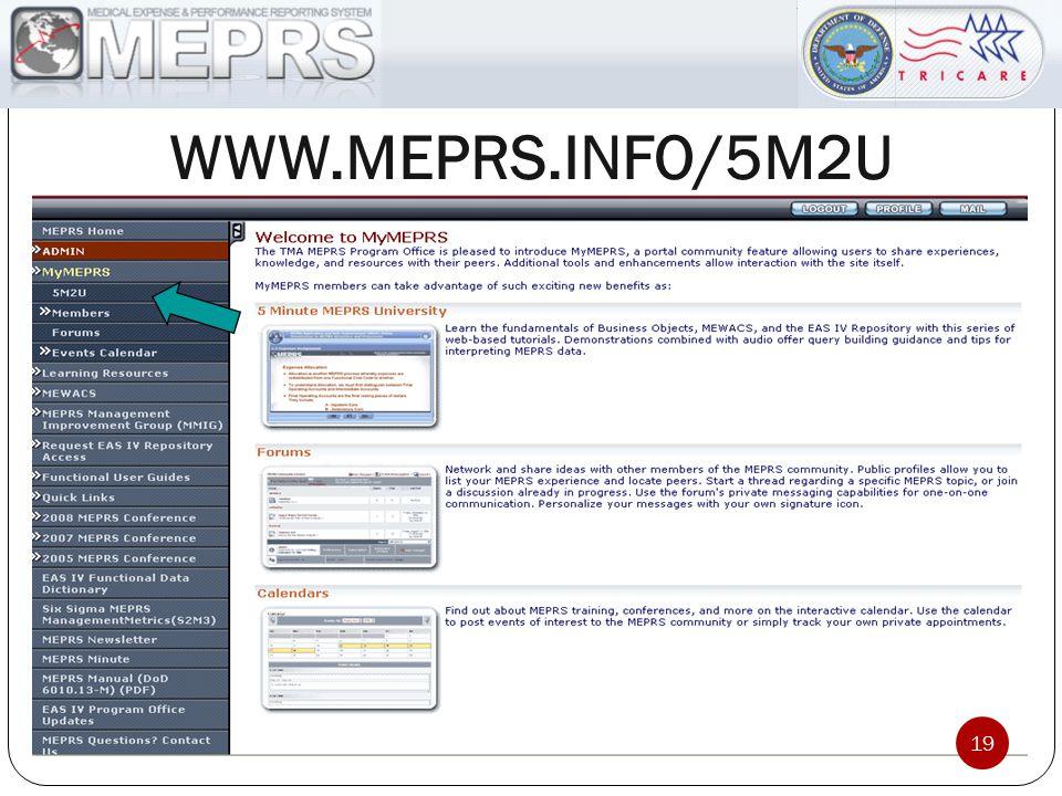 WWW.MEPRS.INFO/5M2U 19
