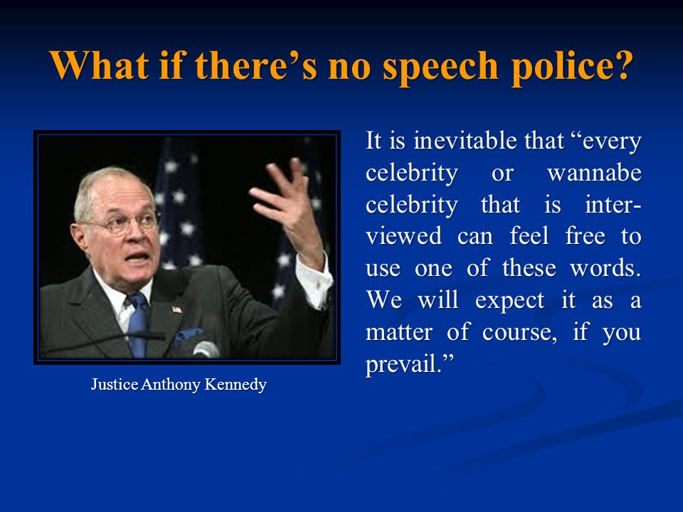 What if there's no speech police.