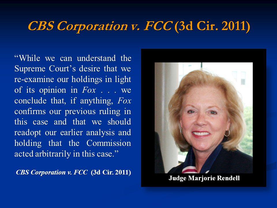 CBS Corporation v. FCC (3d Cir.
