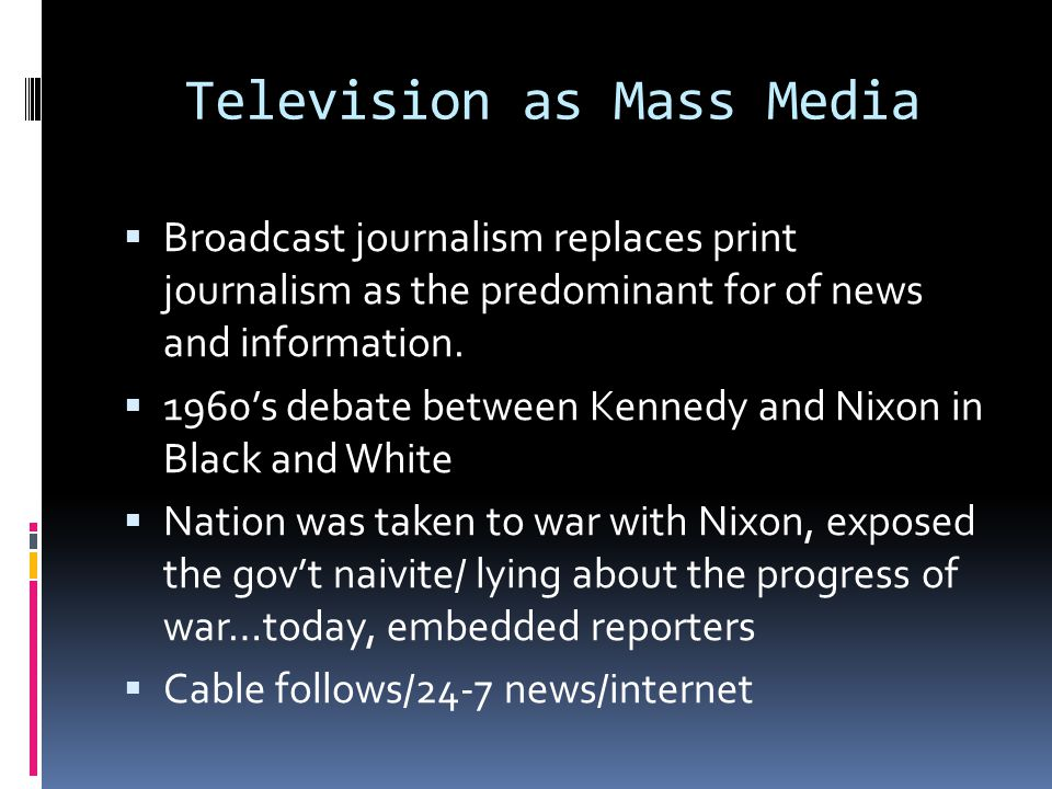 Mass Media Regulation  Ownership by large corporations-dispels the myth of the liberal press ( Rupert Murdoch owner of Fox News)  Regulation-FCC licensing controls-created in 1934 by Congress  FCC is an independent regulatory body but is subject to political pressures