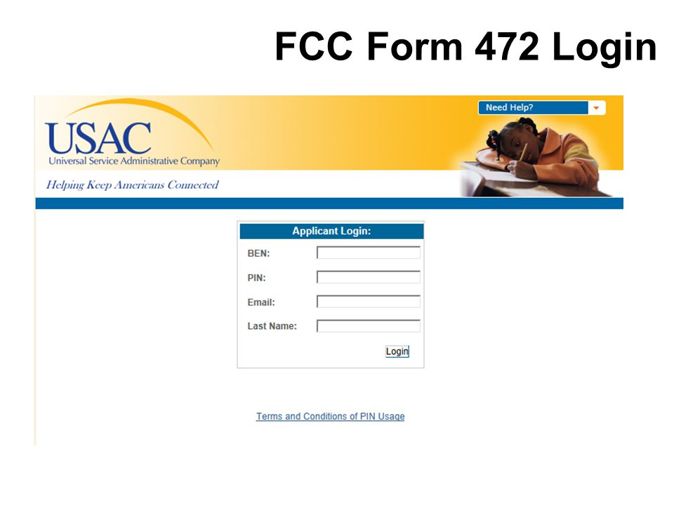 FCC Form 472 Login